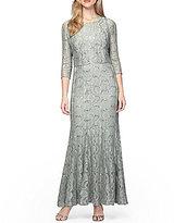 Alex Evenings Sequin-Lace Bolero Jacket Dress