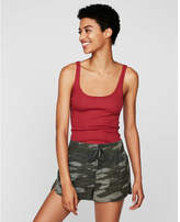 Express one eleven ribbed scoop neck tank
