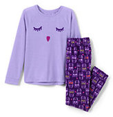 Classic Toddler Girls Knit Novelty Graphic Top and Fleece Pant-Owl