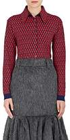 Prada Women's Abstract-Checked Wool Cardigan