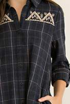 Entro Charcoal Plaid Tunic