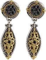Konstantino Asteri Pave Black Diamond Dangle Earrings
