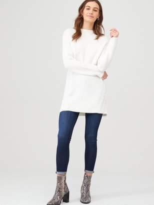 Very Cross Stitch Longline Jumper - White