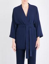 Hanro Hélà ̈ne woven kimono robe