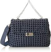 Silvian Heach Rovasenda, Women's Top-Handle Bag, Blu (Blue Night), 32x24x13 cm (W x H L)
