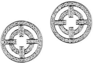 Akillis A License To 18K White Gold Diamond Cutout Stud Earrings
