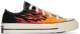 Converse Black and Red Flame Chuck 70 Low Sneakers