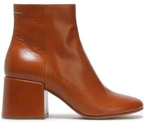 MM6 MAISON MARGIELA Ring-embellished Glossed-leather Ankle Boots