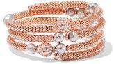 New York & Co. Glittering Mesh Coil Bracelet