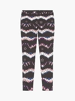 Mint Velvet Mintie by Girls' Tie-Dye Print Jersey Leggings, Multi