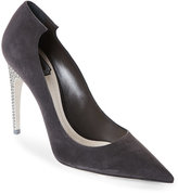 Christian Dior Steel Flash Pointed Toe Pumps