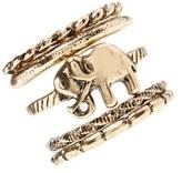 Forever 21 Burnished Elephant Ring Set