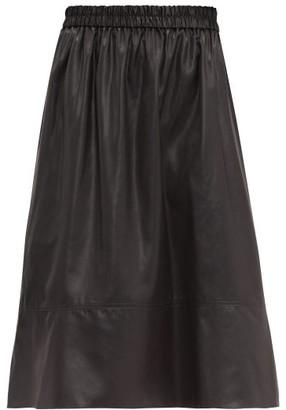 Tibi Liquid Drape Midi Skirt - Womens - Black