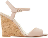 Dune Montecarlo leather cork-effect wedge sandals