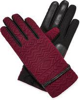 Isotoner smarTouch Tribal-Embossed Gloves