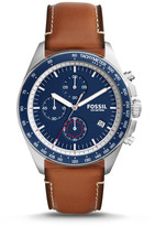 Fossil Sport 54 Chronograph Light Brown Leather Watch