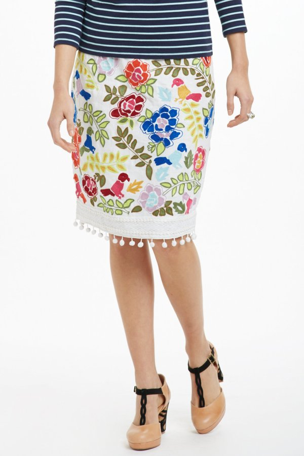 Anthropologie La Festa Pencil Skirt
