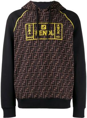 Fendi Roma FF logo hoodie