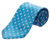 Saint Laurent Teal Floral Silk Tie.