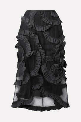 Simone Rocha Moncler Genius - 4 Ruffled Shell-trimmed Tulle Midi Skirt - Black