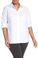 Foxcroft Plus Size Women's 'Vanessa' No-Iron Cotton Shirt