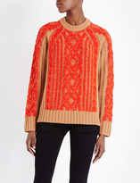 Rag & Bone Lorraine contrast cable knitted jumper
