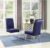 Chic Home Set Of 2 Sharon Navy Dining Chairs