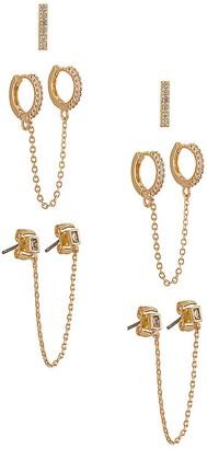 Ettika Chain Earring Set