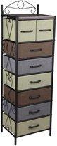 Household Essentials 8044-1 Victorian 8 Drawer Tower | Storage Dresser or Chest |