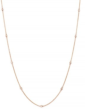 Bloomingdale's Bezel Set Diamond Station Long Necklace in 14K Rose Gold, 0.60 ct. t.w. - 100% Exclusive