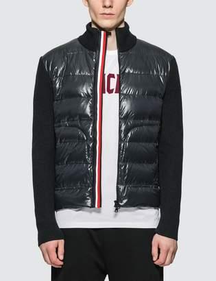 Moncler Stripe Zipped Down Cardigan