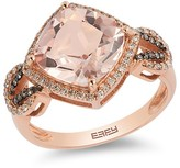 Effy Jewelry Effy Blush 14K Rose Gold Morganite and Diamond Ring, 3.65 TCW