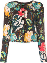 Twin-Set floral embroidered cardigan - women - Wool - S