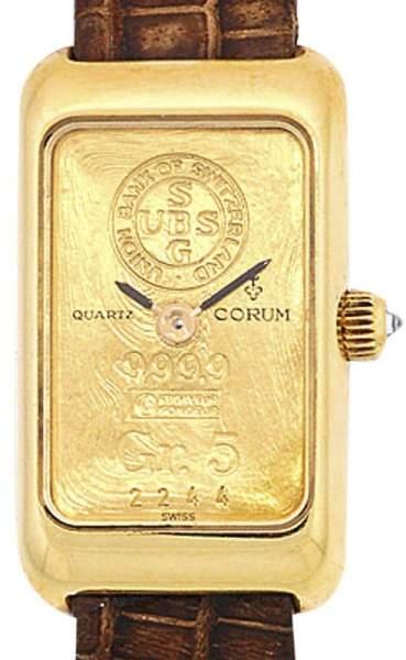 Corum Gold Ingot 18K Yellow Gold Womens Watch