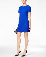 Betsey Johnson Short-Sleeve Crepe Shift Dress