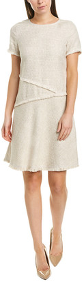 Lafayette 148 New York Greta Linen-Blend Shift Dress
