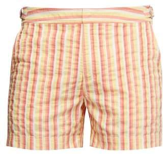 Orlebar Brown Setter Stripe Swim Shorts - Mens - Orange Multi
