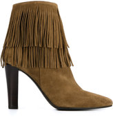 Saint Laurent fringed boots - women - Leather/Suede - 35