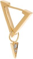 AZLEE Circuit diamond & yellow-gold earring