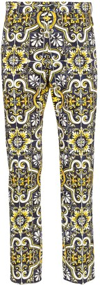 Dolce & Gabbana Maioliche print tailored trousers