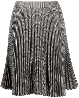 Styland Check-Pattern Pleated Skirt