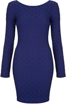 Topshop Texture Mini Bodycon Dress