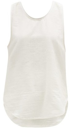 Marrakshi Life - Scoop-hem Cotton-blend Jersey Tank Top - Ivory
