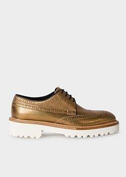 Women's Metallic Gold Leather 'Vegas' Brogues