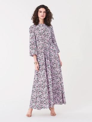 Diane von Furstenberg Ivette Silk Crepe de Chine Maxi Dress