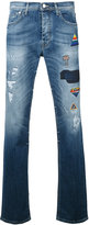 Iceberg patches tapered jeans - men - Cotton/Spandex/Elastane - 32