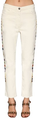 Etro Embroidered Cotton Denim Jeans
