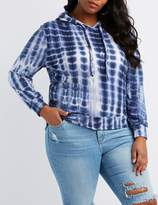 Charlotte Russe Plus Size Tie Dye Pullover Hoodie