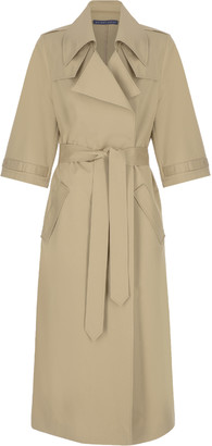 Zeynep Arcay Oversized Belt Gabardine Trench Coat