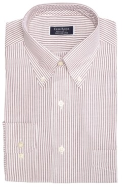 Club Room Men's Classic/Regular-Fit Performance Stretch Stripe Dress Shirt, Created for Macy's